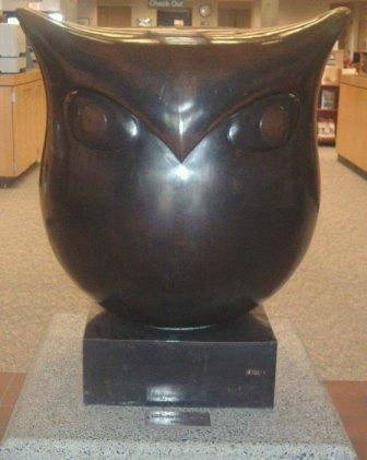 The Owl  -  Bronze Sculpture -  By Benjamin Bufano  -  Aberdeen Timberland Library  -  121 East Market Street