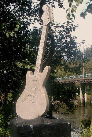 """As You Were""   -Cast Concrete by Lora & Kim Malakoff - Kurt Cobain Memorial Riverfront Park - End of East Second Street near the Young Street Bridge"